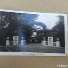 Postales: ANTIGUA POSTAL ELVAS, JARDIN MUNICIPAL. Lote 271571263