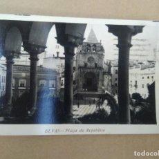 Postales: ANTIGUA POSTAL ELVAS, PLAZA DA REPUBLICA. Lote 271571493