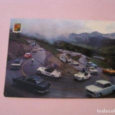 Postales: POSTAL DE ANDORRA. VALLS D'ANDORRA. ENCAMP. CURVAS DEL REFUGIO. TOUR DE FRANCE. ED. FISA.. Lote 272742118