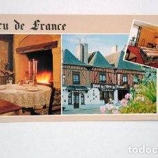 Postales: L'ECU DE FRANCE, HOTEL RESTAURANT. CHATEAU-RENAULT. FRANCIA. SIN CIRCULAR. Lote 273002288