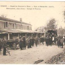 Cartes Postales: MAISON ROUGE (FRANCIA) ROUTE DE CLERMONT À RIOM.. Lote 275144903