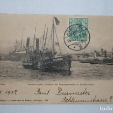 Postales: PUERTO DE HAMBURGO 1902. Lote 275744073