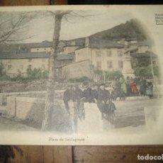 Cartoline: POSTAL PLAZA SAILLAGOUSE . ANIMADA FRANCIA . CERDANYA 1912 ESCRITA EN TRASERA . BERTRAN PUIGCERDA. Lote 276413558