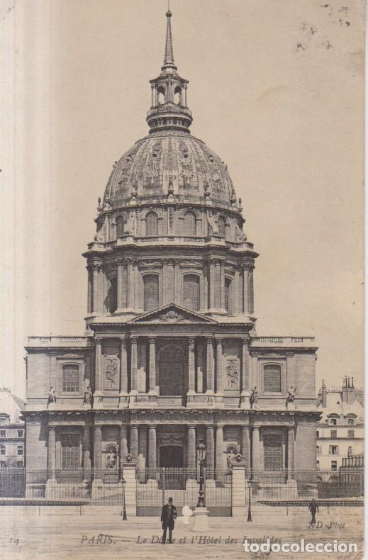 FRANCIA PARIS HOTEL DES INVALIDES 1921 POSTAL CIRCULADA (Postales - Postales Extranjero - Europa)