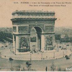 Postales: FRANCIA PARIS EL ARCO DE TRIUNFO 1924 POSTAL CIRCULADA. Lote 276807888