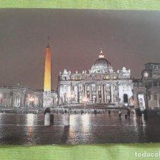 Postales: ROMA - PLAZA DE SAN PEDRO - NOCHE. Lote 277226888