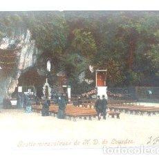Postales: FRANCIA POSTAL VIRGEN DE LOURDES GROTTE MIRACULEUSE 1905. Lote 277327203