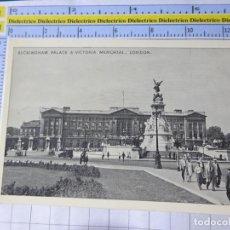 Postales: POSTAL DE REINO UNIDO GRAN BRETAÑA. LONDRES LONDON BUCKINGHAM PALACE & VICTORIA MEMORIAL. 1837. Lote 278296303