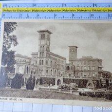 Postales: POSTAL DE REINO UNIDO GRAN BRETAÑA. OSBORNE HOUSE I.W. 1838. Lote 278296353