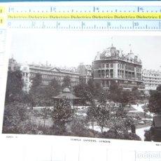 Postales: POSTAL DE REINO UNIDO GRAN BRETAÑA. TEMPLE GARDENS LONDON LONDRES. 1842. Lote 278296673