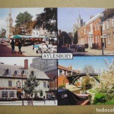 Cartoline: AYLESBURY. CLOCK TOWER & MARKET SQUARE. EXCRITA.. Lote 278768558