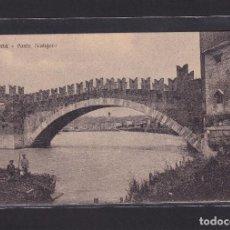 Postales: VERONA - PONTE SCALIGERO (ITALIA). Lote 279584948