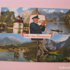 Postales: POSTAL DE ALEMANIA. ECHO VOM KÖNIGSSEE.. Lote 280106898