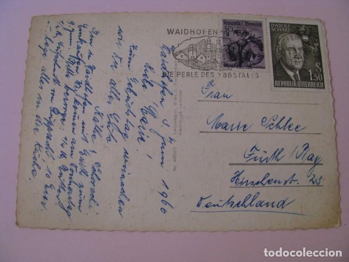 Postales: POSTAL DE AUSTRIA. STEYR A. D. ENNS. CIRCULADA. 1960. - Foto 2 - 280107318