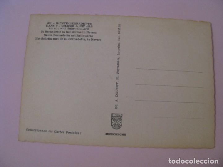 Postales: POSTAL DE FRANCIA. SAINTE BERNADETTE. - Foto 2 - 280109098