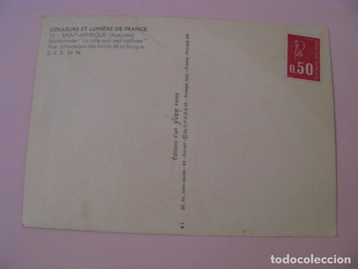 Postales: POSTAL DE FRANCIA. COULEURS ET LUMIERE DE FRANCE. SAINT AERIQUE (AVEYRON). - Foto 2 - 280109398