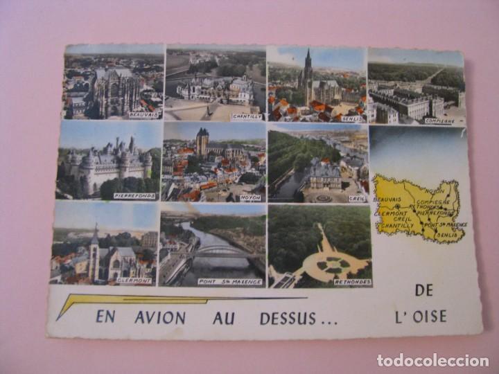 POSTAL DE FRANCIA. OISE. EN AVION AU DESSUS... DE L'OISE. ESCRITA 1966. (Postales - Postales Extranjero - Europa)