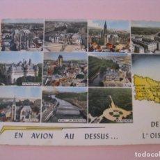 Postales: POSTAL DE FRANCIA. OISE. EN AVION AU DESSUS... DE L'OISE. ESCRITA 1966.. Lote 280109778