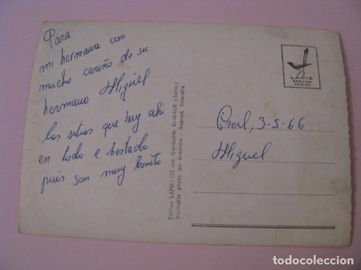 Postales: POSTAL DE FRANCIA. OISE. EN AVION AU DESSUS... DE LOISE. ESCRITA 1966. - Foto 2 - 280109778
