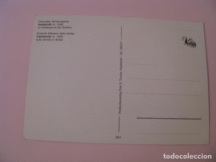 Postales: POSTAL DE ITALIA. DOLOMITEN SCHLERNGEBIET KASTELRUTH. - Foto 2 - 280110593