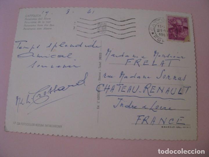 Postales: POSTAL DE ITALIA. CATTOLICA. CIRCULADA 1961. - Foto 2 - 280110833