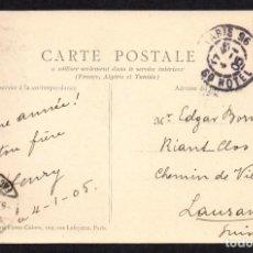 Postales: PARIS A SUIZA 1905, PARIS RUE ROYALE. Lote 285343658