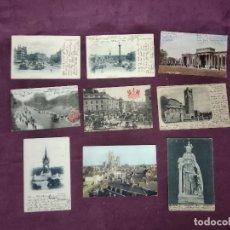 Cartoline: 9 ANTIGUAS POSTALES DE INGLATERRA, ESCRITAS Y FRANQUEADAS, B/N Y COLOREADAS. Lote 287684338