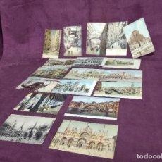 Cartoline: 18 POSTALES ANTIGUAS DE ITALIA, MILÁN, NÁPOLES, GÉNOVA, VENECIA Y BOLONIA. Lote 287690573