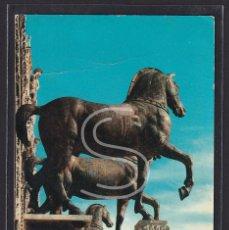 """Postales: ITALIA, VENECIA BASÍLICA DE SAN MARCOS - DETALLE DE LOS """"CABALLOS"""", 1965. Lote 288062178"""