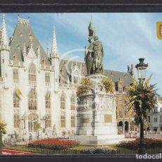 Postales: BÉLGICA, PLAZA DEL MERCADO DE BRUJAS - PALACIO DE GOBIERNO (SIGLO XVIII), 1999. Lote 288062913