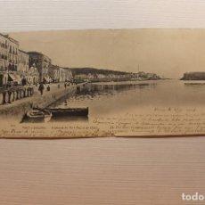 Postales: POSTAL DOBLE, PORT-VENDRES, PANORAMA DU PORT NEUF ET DES QUAIS, N.D. FOT., VINÇÀ 1901. Lote 288086353