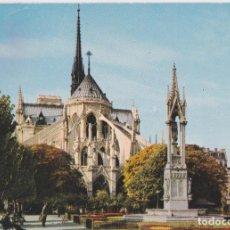 Postales: FRANCIA, PARIS, EL ABSIDE DE NOTRE-DAME – CIM 0537 – CIRCULADA. Lote 288100573