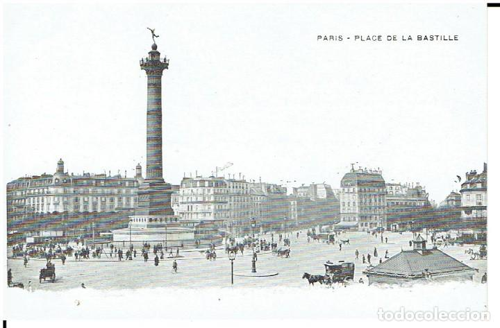 FRANCIA, POSTAL ANTIGUA, PARIS, PLACE DE LA BASTILLE, SIN CIRCULAR, (Postales - Postales Extranjero - Europa)