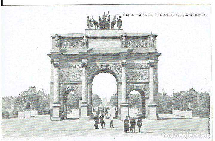 FRANCIA, POSTAL ANTIGUA, PARIS, ARC DE TRIONPHE DU CARROUSEL, SIN CIRCULAR, (Postales - Postales Extranjero - Europa)