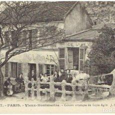Postales: FRANCIA, POSTAL ANTIGUA, PARIS, VIEUX-MONTMARTRE, CABARET ARTISTIQUE DU LAPIN AGILE, SIN CIRCULAR,. Lote 288392203