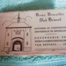 Postales: 10 POSTALES DE BRUSELAS 1935. Lote 288447388