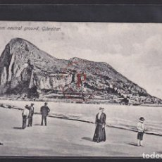 Postales: ROCK FROM NEUTRAL, GIBRALTAR 1920. Lote 288539823