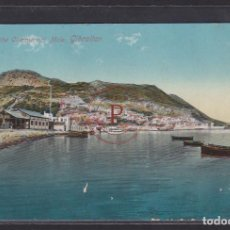 Postales: GIBRALTAR, ROCK FROM THE COMMERICAL MOLE. Lote 288540278
