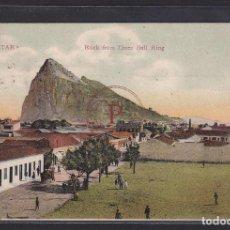 Postales: GIBRALTAR ROCK FROM LINEA BULL RING, 1909. Lote 288540488