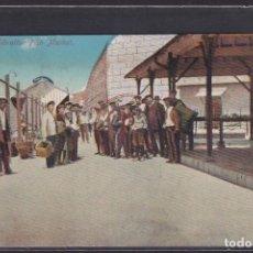 Postales: THE GIBRALTAR FISH MARKET. 1913. Lote 288540648