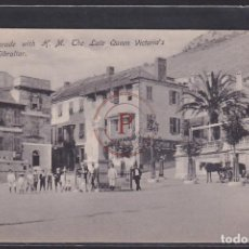 Postales: GIBRALTAR, GUNNER'S PARADE WITH H.M. THE LATE QUEEN VICTORIA'S MONUMENT. Lote 288541618
