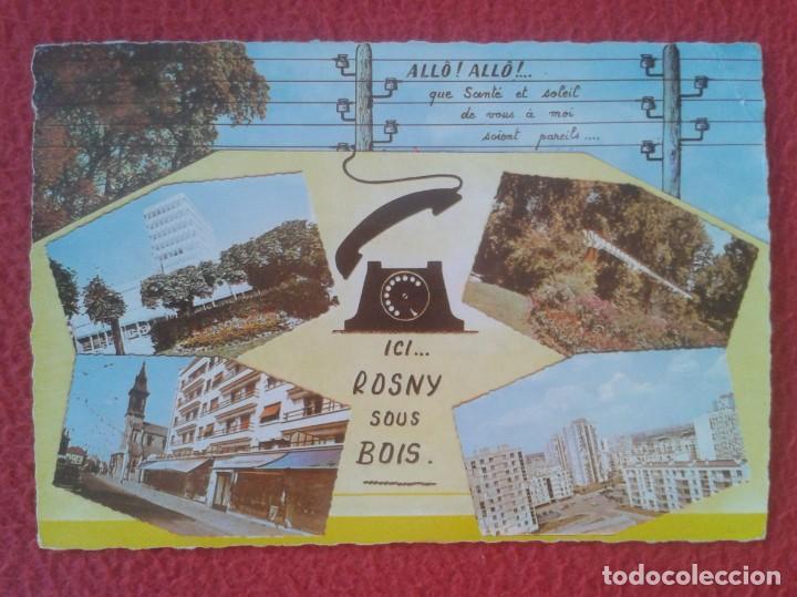 POSTAL CARTE POSTALE FRANCIA FRANCE ICI ROSNY SOUS BOIS VISTAS VUES..DIVERS ASPECTS DE LA VILLE..... (Postales - Postales Extranjero - Europa)