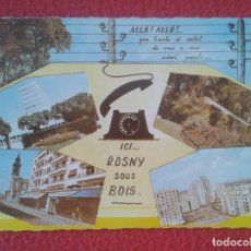 Postales: POSTAL CARTE POSTALE FRANCIA FRANCE ICI ROSNY SOUS BOIS VISTAS VUES..DIVERS ASPECTS DE LA VILLE...... Lote 288870208