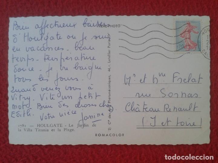 Postales: POSTAL CARTE POSTALE FRANCIA FRANCE HOULGATE LE JARDIN DE LA VILLA TITANIA ET LA PLAGE PLAYA BEACH.. - Foto 2 - 288874518