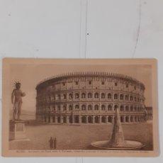 Postales: POSTAL DE ROMA. COLISEO RESTAURADO CONFORME SE ENCONTRABA EN TIEMPO ADRIANO. ED. RISERVATA E.D.G.V.. Lote 289255313