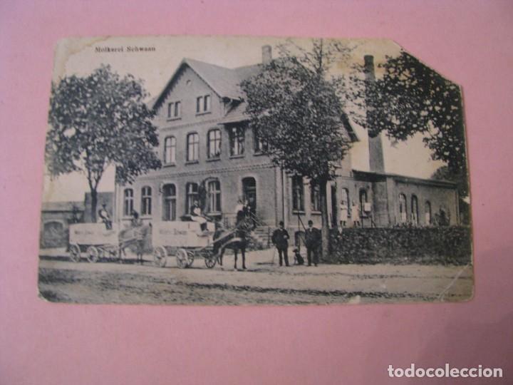 POSTAL DE ALEMANIA. SCHWAAN. MOLKEREI SCHWAAN. ED. KRILLE & MARTIN. CIRCULADA 1919. (Postales - Postales Extranjero - Europa)