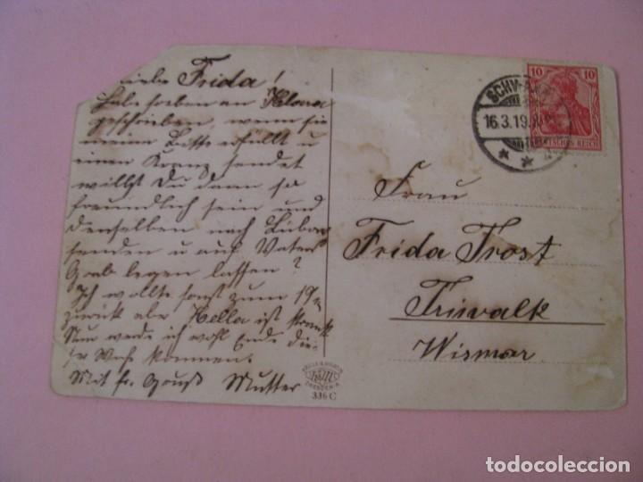 Postales: POSTAL DE ALEMANIA. SCHWAAN. MOLKEREI SCHWAAN. ED. KRILLE & MARTIN. CIRCULADA 1919. - Foto 2 - 289257093
