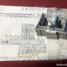Postales: TARJETA CON PLANO PARA LA VISITA AL PALACIO REAL DE AMSTERDAM. Lote 289263028