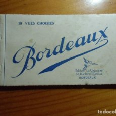 Postales: BORDEAUX(FRANCIA) LIBRILLO CON 13 POSTALES,EDIC.LA CIGOGNE,AÑOS 30.. Lote 289350673