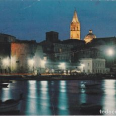 Postales: ITALIA, ALGHERO / ALGUER, VISTA NOCTURNA - FOTOMETALGRAFICA 23/AL - CIRCULADA. Lote 289700638